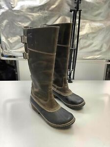 Women's Sorel Brown Leather Boots Size 9