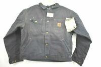 Vintage NOS Carhartt Mens Large Aztec Print Sherpa-Lined Canvas Barn Coat Jacket