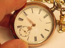 Rare Antique Omega Swiss 800 Silver Pocket Watch Circa 1900 For Restoration
