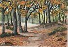 "aceo original acrylic ""Autumn Stroll"" by J. Hutson"
