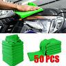 50pcs Mikrofasertücher Auto Reinigung Poliertuch Microfasertuch Waschlappen Neu