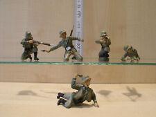 7013) ELASTOLIN / LINEOL - Massefigur - 5 Stk. Soldaten  - Heer - ansehen