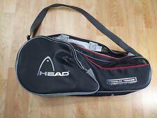 Head Tennis Racquet Racket Carry Bag Black & Silver Shoulder handle titanium