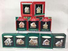 Hallmark Miniature Ornaments Old English Village Complete Collector's Set Of 10