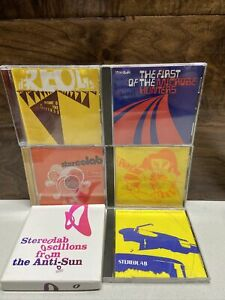 STEREOLAB Lot 6 CD's Microbe Hunters Peng! Margerine Instant Transient Anti-Sun