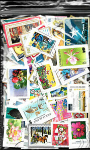 Over 150 used large world stamps on paper from Kiloware, with no damaged stamps!