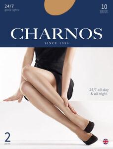 Charnos 24/7 2 Pair Pack 10 Denier Sheer Gloss Tights