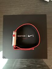 Apple Watch Nike+ 42mm Silver Aluminium Case with Bright Crimson/Black Nike...