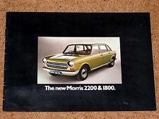"""1972 MORRIS 2200 1800 Sales Brochure - """"Landcrab"""" ADO17"""