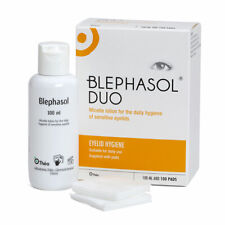 Thea Blephasol Duo Eyelid Hygiene Lotion with 100 Pads Treatment Of Blepharitis