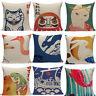 Cotton Linen Japanese Retor Sofa Chinese Pattern Pillowcase Square Pillow Cover