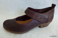 CLARKS Artisan Dark Brown Leather Mary Jane Shoes Hook and Loop Size 6.5M/37