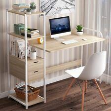 Schreibtisch Computertisch Bürotisch mit Bücherregal Arbeitstisch Esstisch 107CM
