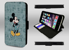 Disney Mickey Mouse Vintage Comic Book Print Wallet Leather Phone Case Cover