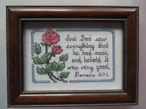 Counted Cross Stitch Picture Hand Sewn Finished Piece