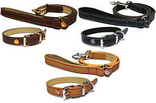 Rosewood Leather Dog Collars