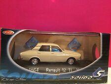 SUPERBE RENAULT 12 TL 1970 1/43 SOLIDO NEUF BOITE B1