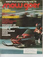 MARCH 1972 SNOW GOER snowmobile magazine