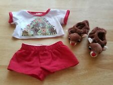 New ListingBuild A Bear Clothes Reindeer Pjs & Slippers Christmas Outfit