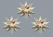 3D Adventsstern 3x kleine Sterne mit Sandmann Weihnachtsstern Kinder Erzgebirge