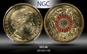 2015 AUSTRALIA 2 DOLLARS LEST WE FORGET NGC MS 66 FINEST KNOWN