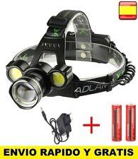 Linterna Frontal Recargable de cabeza luz LED 8000LM T6 4X COB ZOOM Impermeable