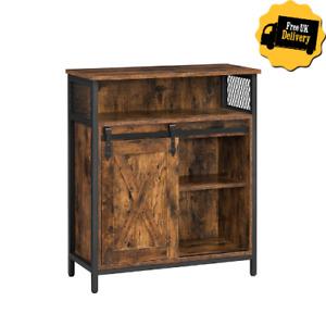 Sliding Barn Door Rustic Storage Cabinet Industrial Kitchen Cupboard Organizer