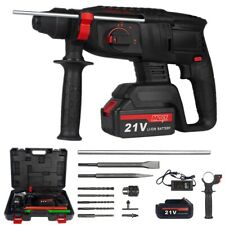 38cordless Rotary Hammer Drill Sds Plus 1200w Electric Power With Battery Amp Bits