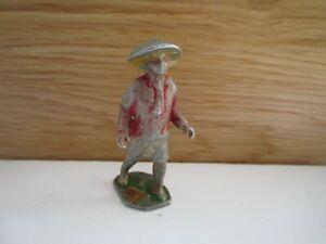 petit soldat figurine chinois porteur de pousse pousse aludo  quiralu