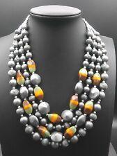 Vintage Silver Necklace 1950's 1960's Signed Japan
