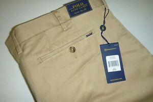 polo ralph lauren mens LUXURY Slim fit STRETCH casual dress pants 40X32 -TAN