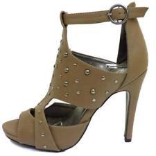 Zapatos de tacón de mujer marrones sin marca de sintético