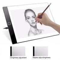 A4 LED Tracing Light Box USB Artist Tattoo Stencil Board Slim Drawing Pad Table