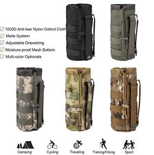 Drawstring Tactical Molle Military Kettle Pouch Holder Travel Water Bottle Bag