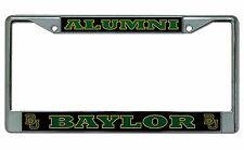 Baylor Bears Alumni Chrome License Plate Frame