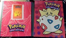 2  Pokemon Pocket School Folders Supplies 1998 Pikachu & Togepi Nintendo NEW