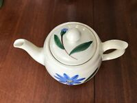 Vintage Shawnee Mid Century Teapot w/ lid Marked USA Hand Painted Floral Motif
