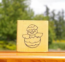 Hatching Easter Chick Wood Mounted Rubber Stamp 1999 by Anita's Back Street Inc.
