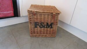 F&M Fortnum & Mason Large Square Basket Hamper