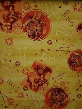 HOROSCOPE SIGNS FABRIC LEO  BY THE 1/2 YARD  NEW FROM FABRI-QUILT