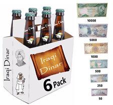 Iraqi Dinar 6 Pack! 10000x1, 5000x1, 1000x1, 500x1, 250x1 & 50x1 - *Six Notes*