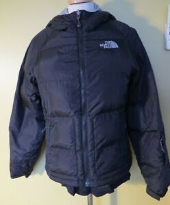 Black North Face Winter Puffer Coat Jacket 700 Goose Down With Hood XS 6