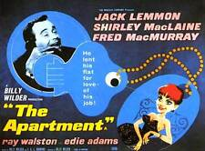 The Apartment Movie Poster 22x28 Half Sheet Jack Lemmon Shirley MacLaine Fred