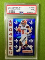 BAKER MAYFIELD ROOKIE CARD CRUSADE PRIZM PSA MINT RC REFRACTOR 2018 BROWNS SP RC