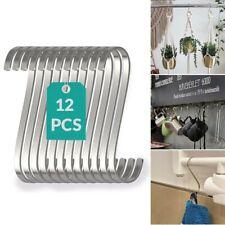12pcs S HAKEN Flach Edelstahl Aufhänger Küche Garten Wandbehang Utensilien 12