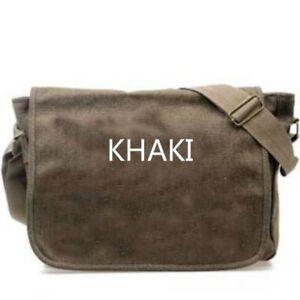 New Messenger Shoulder Bag Rucksack Canvas Haversack Military Retro Casual Bag
