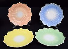 Springtime petal shaped luncheon plates, set of 4 (salmon, blue, green, yellow)