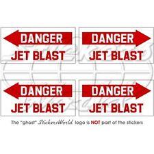 DANGER JET BLAST Aircraft Helicopter RAF RAAF USAF 50mm Stickers Decals