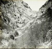 Montagne Rochers c1900, Photo Stereo Grande Plaque Verre VR9L8n9
