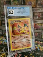 1999 Pokemon Base Set 1st Edition Shadowless Holo Charizard #4 CGC 5.5 EX+